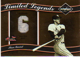 2004 Leaf Limited Legends Material Number #19 Stan Musial Jsy/100