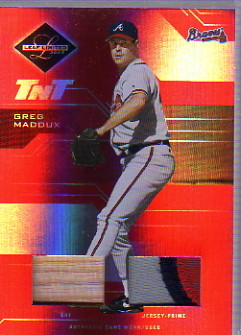 2005 Leaf Limited TNT Prime #174 G.Madd Braves Bat-Jsy/100