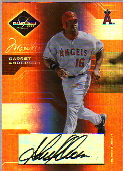 2005 Leaf Limited Monikers Bronze #130 Garret Anderson/100