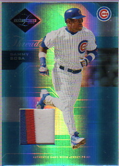2005 Leaf Limited Threads Jersey Prime #175 Sammy Sosa Cubs/100