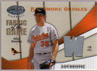 2004 Leaf Certified Materials Fabric of the Game Stats #181 Mike Mussina Jsy/19