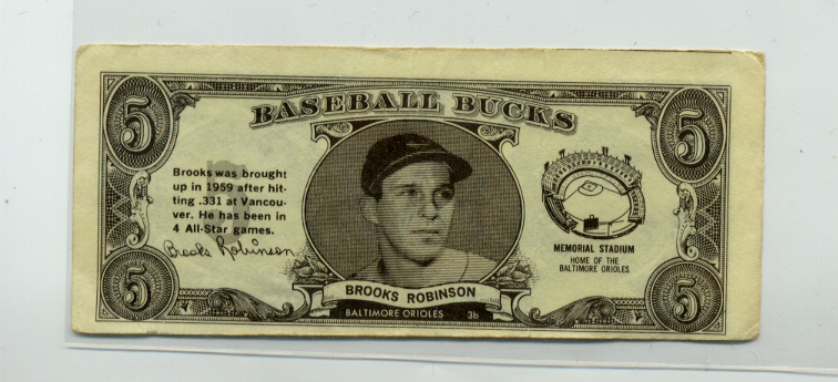 1962 Topps Bucks #75 Brooks Robinson