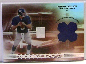 2003 Donruss Elite Back to the Future Threads #BF9 Kerry Collins