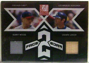 2005 Donruss Elite Face 2 Face Combos #15 Kerry Wood Jsy/Shawn Green Bat/250