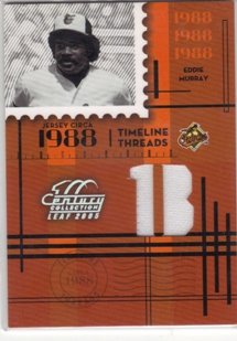 2005 Leaf Century Timeline Threads Position #33 Eddie Murray Pants/88