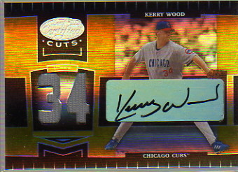2004 Leaf Certified Cuts Marble Signature Material Gold Number #41 Kerry Wood Pants/34