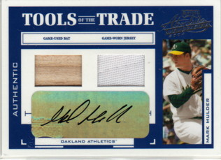 2004 Absolute Memorabilia Tools of the Trade Material Signature Combo #89 M.Mulder Bat-Jsy/10
