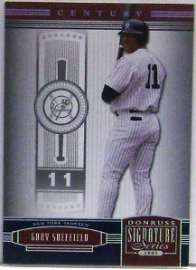 2005 Donruss Signature Century Proofs Silver #85 Gary Sheffield