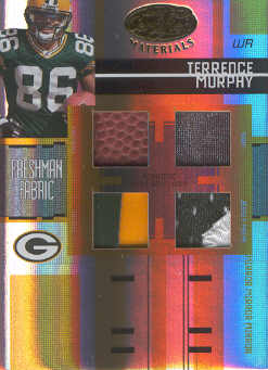 2005 Leaf Certified Materials Mirror Gold Materials #226 Terrence Murphy