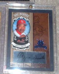 2005 Diamonds Kings HOF Heroes Blue 1/1 Ozzie Smith Cardinals One of One front image