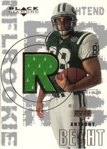 2000 Black Diamond #167 Anthony Becht JSY RC