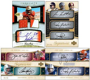 2005 Upper Deck Exquisite Football Hobby Box (Every Box/Pack Will Include 1 Rookie Auto Patch, 1 Dual/Triple/Quad Auto, 1 Patch, 1 Jumbo Jersey & 1 Rookie Auto)(Possible Aaron Rodgers Rookie)