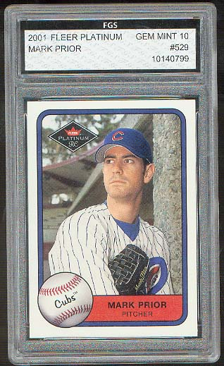 2001 Fleer Platinum #529 Mark Prior FGS 10 Gem Mint