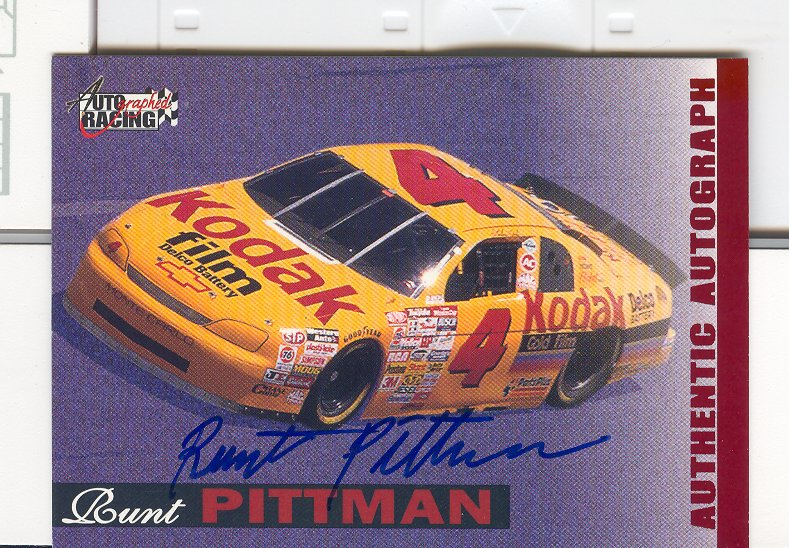 1996 Autographed Racing Autographs #42 Runt Pittman