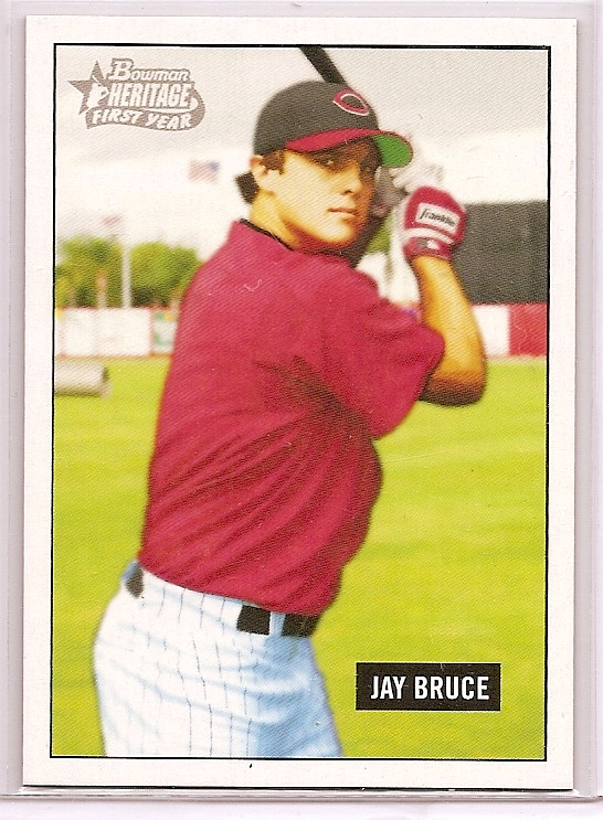 2005 Bowman Heritage Draft Pick Variation #343 Jay Bruce