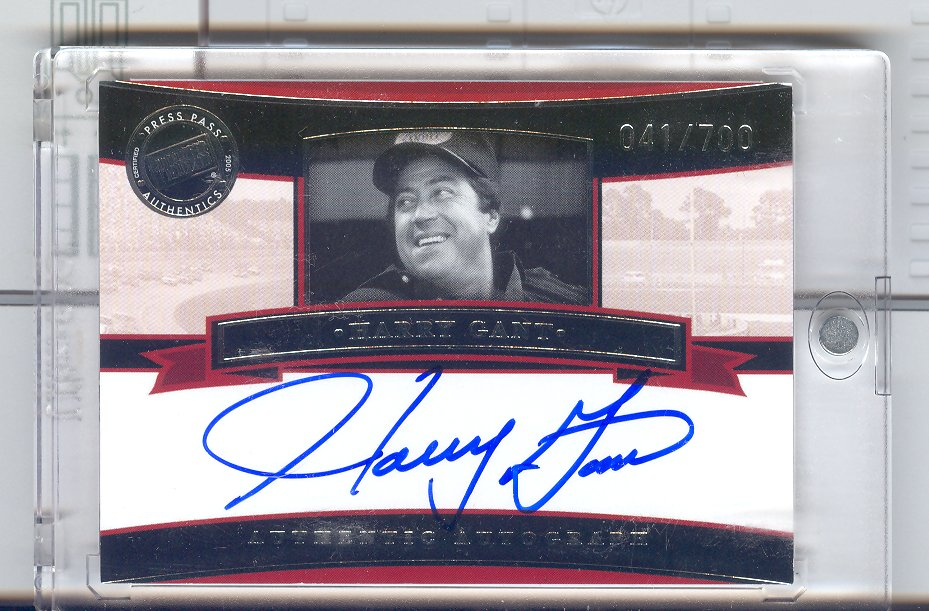 2005 Press Pass Legends Autographs Blue #3 Harry Gant/700