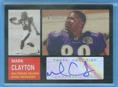2005 Topps Heritage Real One Autographs #ROAMC Mark Clayton E