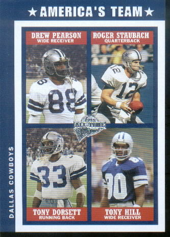 2004 Topps Fan Favorites Jumbos #2 Drew Pearson/Roger Staubach/Tony Dorsett/Tony Hill