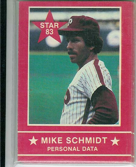 1983 STAR COMPANY MIKE SCHMIDT COMPLETE SET