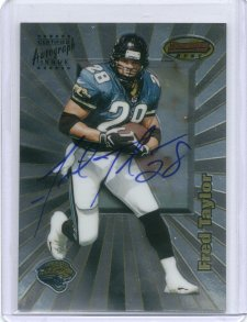 1998 Bowman's Best Autographs #9A Fred Taylor