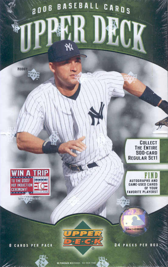 2006 Upper Deck Series 1 Baseball Cards Box  (2 Memorabilia or Signature Cards per box, on average + an Autographed Card in every 3-4 boxes!)