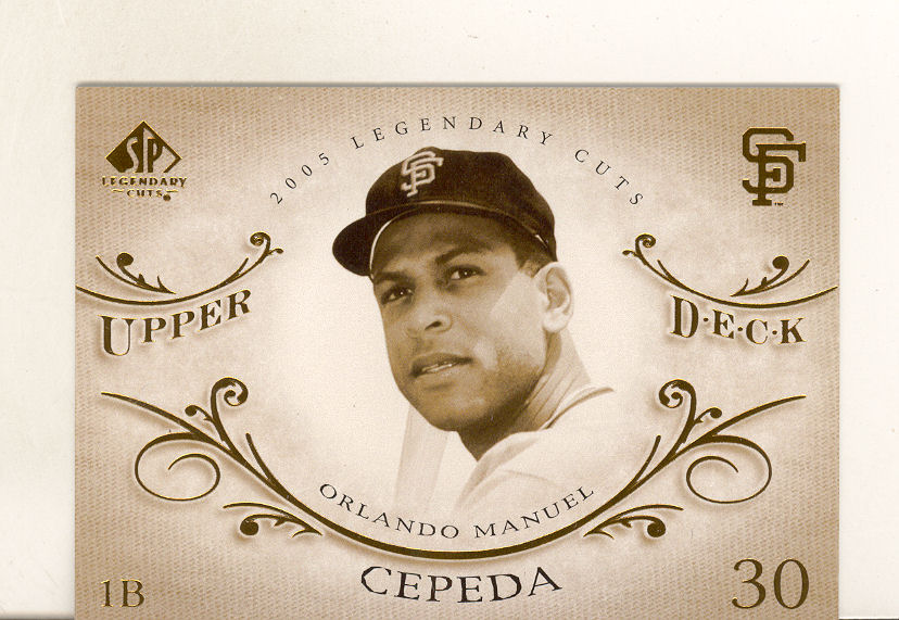 2005 SP Legendary Cuts #58 Orlando Cepeda