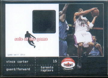 2001-02 Fleer Shoebox Sole of the Game Shoe #3 Vince Carter