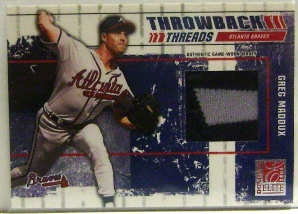 2003 Donruss Elite Throwback Threads #61 Greg Maddux/Tom Glavine