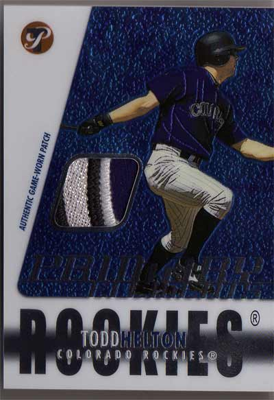 2003 Topps Pristine Primary Elements Patch Relics #TH Todd Helton