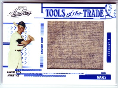 2005 Absolute Memorabilia Tools of the Trade Swatch Single Jumbo #176 Roger Maris A's Jsy/199 front image