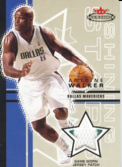 2003-04 Fleer Mystique Shining Stars Jerseys 75 #SSAW Antoine Walker