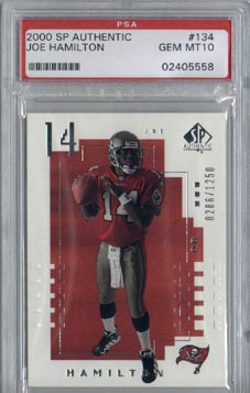 2000 SP Authentic Football #134 Joe Hamilton Future Watch Rookie PSA Gem Mint 10