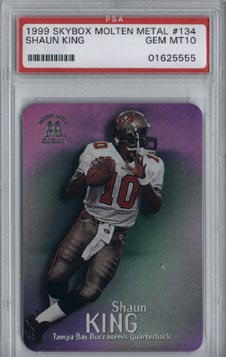1999 Skybox Molten Metal Football Shaun King ROOKIE Gem Mint PSA 10