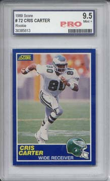 1989 Score #72 Cris Carter RC Graded Mint+ 9.5