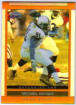 2003 Topps Draft Picks and Prospects Chrome Gold Refractors #162 Michael Haynes