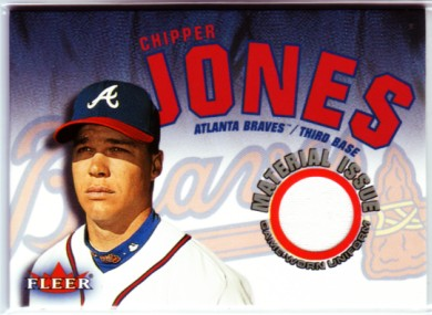 2001 Fleer Genuine Material Issue #CJ Chipper Jones