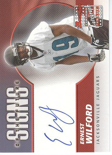 2004 Bowman Signs of the Future Autographs #SFEW Ernest Wilford J