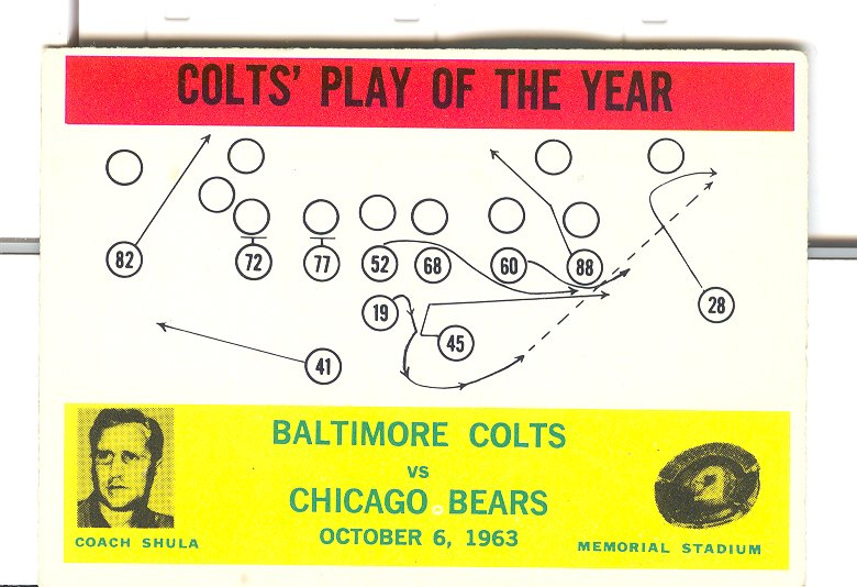 1964 Philadelphia #14 Colts Play/Don Shula