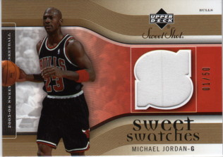 2005-06 Sweet Shot Sweet Swatches Gold #MJ Michael Jordan/50