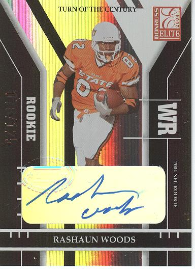 2004 Donruss Elite Turn of the Century Autographs #183 Rashaun Woods