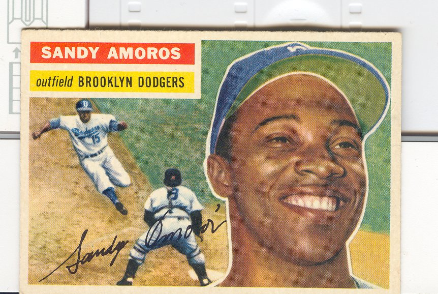 1956 Topps #42 Sandy Amoros