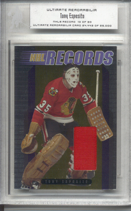 2000-01 BAP Ultimate Memorabilia NHL Records #R3 Tony Esposito