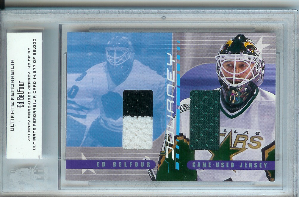 2000-01 BAP Ultimate Memorabilia Journey Jerseys #JJ7 Ed Belfour