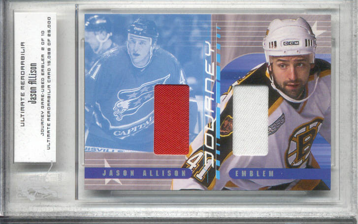 2000-01 BAP Ultimate Memorabilia Journey Emblems #JE16 Jason Allison
