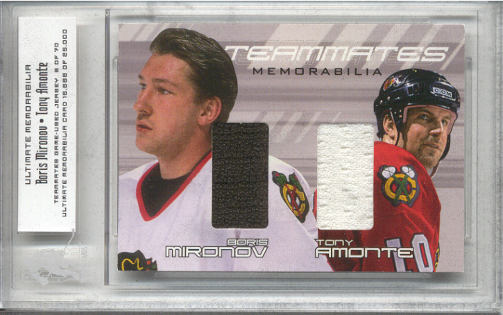 2000-01 BAP Ultimate Memorabilia Teammates #TM18 Boris Mironov/Tony Amonte