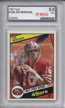 1984 Topps #358 Joe Montana Graded Mint 9