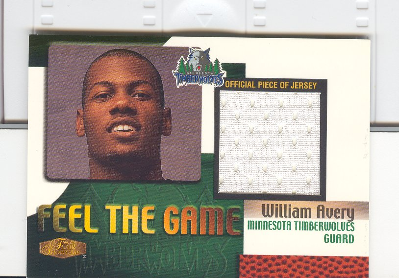 1999-00 Flair Showcase Feel the Game #1 William Avery