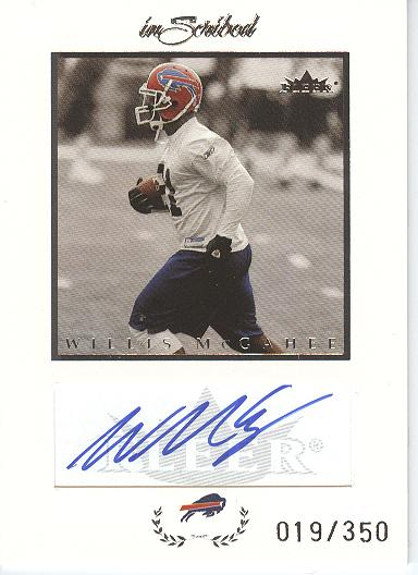 2004 Fleer Inscribed Autographs Silver #WM Willis McGahee/350