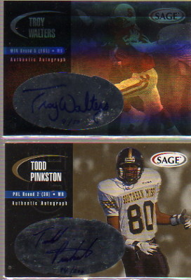 2000 SAGE Autographs Gold #A33 Todd Pinkston/200