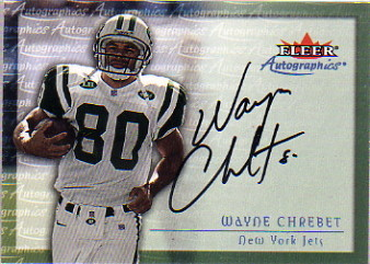2000 Fleer Tradition Autographics #27 Wayne Chrebet